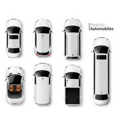 Cars top view set vector