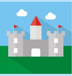 castle icon set of great flat icons design vector image
