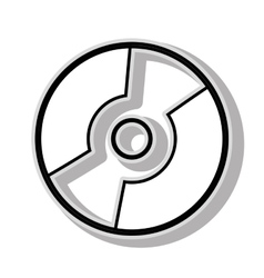CD music icon graphic design vector