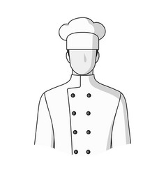 chefprofessions single icon in monochrome style vector image