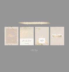 Chic nude pastel color decorative card templates vector