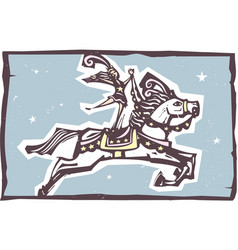 circus horse leaping vector image