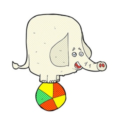 Comic cartoon circus elephant vector