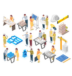 Construction architecture engineers set vector