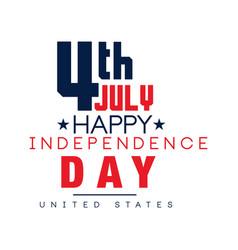 creative typographic emblem american national vector image