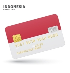 Credit card with indonesia flag background vector