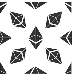 cryptocurrency coin ethereum eth seamless pattern vector image