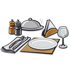 cutlery and tableware vector image