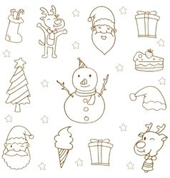 Doodle of christmas hand draw vector image