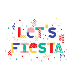 Fiesta banner and poster concept design with vector