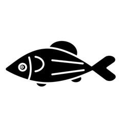 Fish salmon icon black sign vector