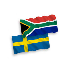 flags sweden and republic south africa on a vector image