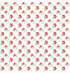 Folklore pattern with small flowers vector