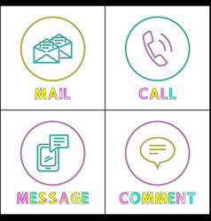 forms people feedback icon set in outline style vector image