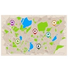 Generic Navigation Map vector