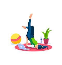 Girl body wellness home sports image vector