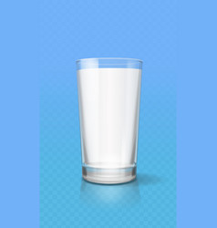 Glass of milk realistic isolated vector