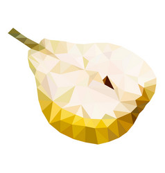 half of pear polygonal low vector image