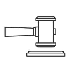 hammer wood gavel icon vector image