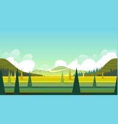 Horizontal seamless summer landscape vector