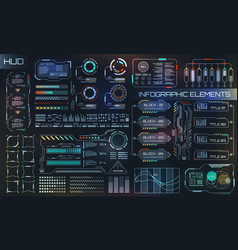 Hud ui for business app futuristic user interface vector