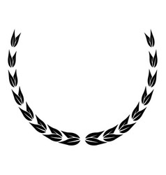 laurel wreath victory decoration leaves vector image