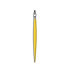Line fountain pen nib icon vector