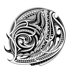 Maori style tattoo shape vector