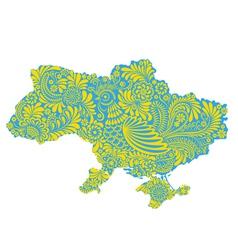 Map of Ukraine territory vector