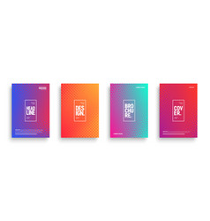 Minimalist design brochures vector