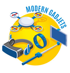 modern gadgets isometric vector image