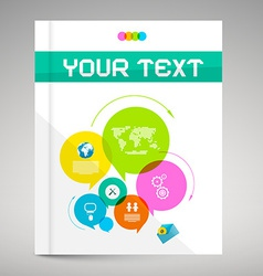 Modern Paper Brochure and Book Layout Cover vector image