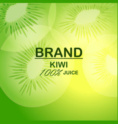 Natural kiwi juice concept background realistic vector