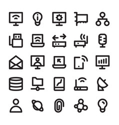 Network and communication line icons 5 vector
