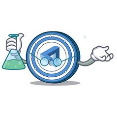 Professor maidsafecoin character cartoon style vector