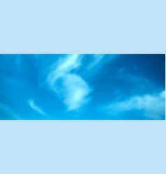 Realistic blue sky with cumulus clouds resizable vector
