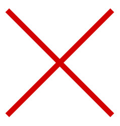 restrictive prohibitive sign for something red vector image