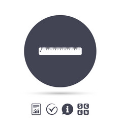 ruler sign icon school tool symbol vector image