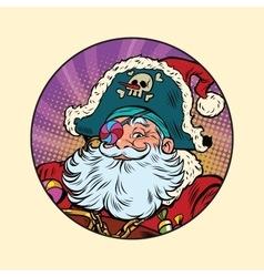 Santa Claus pirate vector image