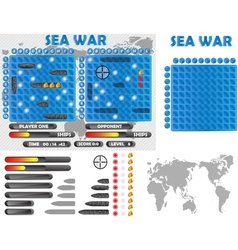 Sea war infographics vector