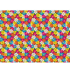 seamless pattern made of flowers vector image