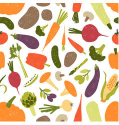 seamless pattern with fresh tasty organic vector image