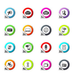 Social media icons set vector