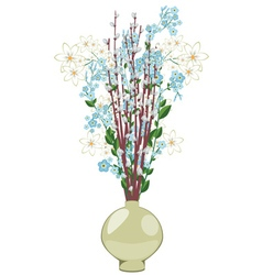 Spring Flowers in a Vase2 vector image