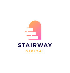 stairway logo icon vector image