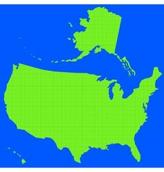 Stencil silhouette map usa vector