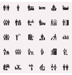 Stick figure life away vector