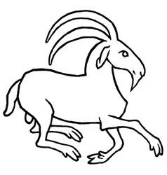 Stylized goat vector