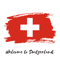 Switzerland watercolor national country flag icon vector