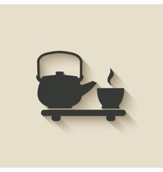 Tea ceremony icon vector